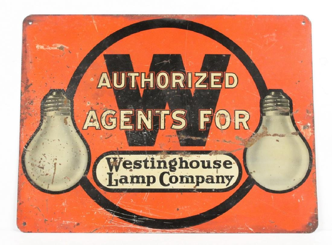 """METAL TRADE SIGN """"WESTINGHOUSE LAMP COMPANY"""""""