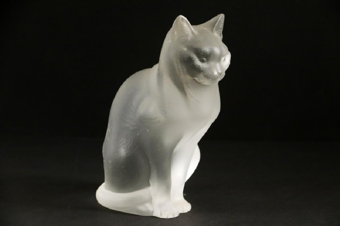 LALIQUE ART GLASS CAT