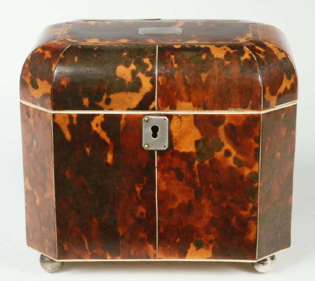 TORTOISESHELL TEA CADDY - 2