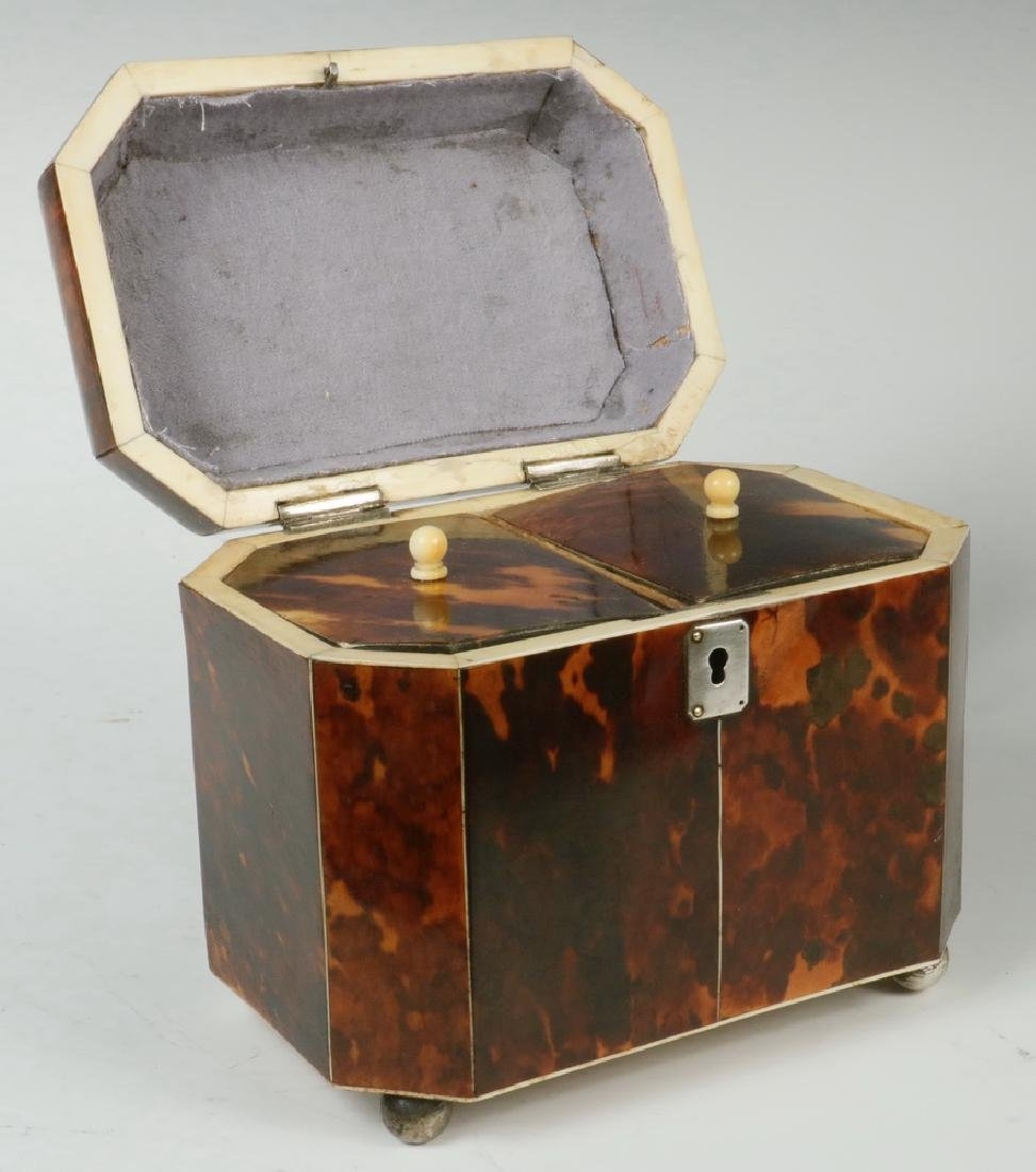TORTOISESHELL TEA CADDY - 3
