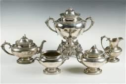 (5 PC) GORHAM COIN SILVER TEA SERVICE