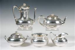 5 PC TIFFANY  CO STERLING TEA  COFFEE SET