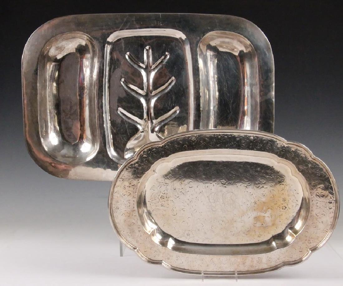 (2) STERLING SILVER TRAYS