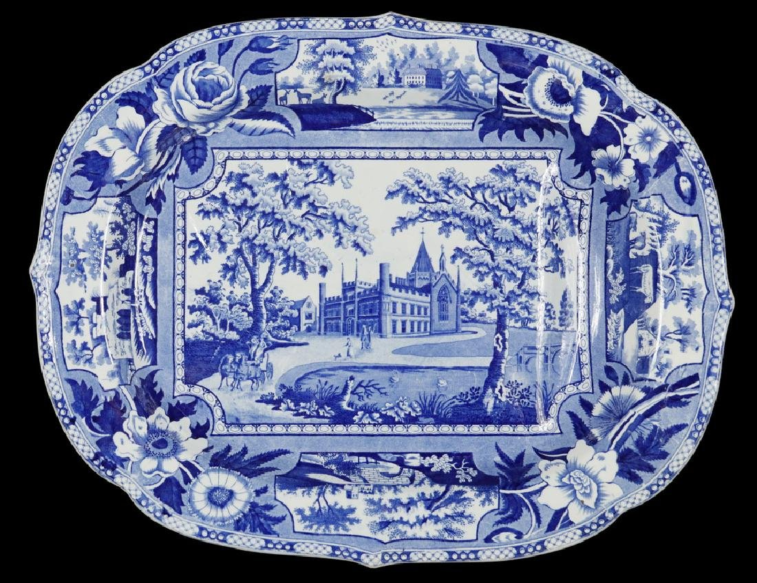 STAFFORDSHIRE BLUE & WHITE PLATTER
