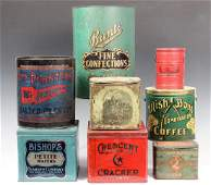8 VINTAGE PRODUCT ADVERTISING TINS