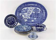 11 PCS BLUE  WHITE TRANSFERWARE