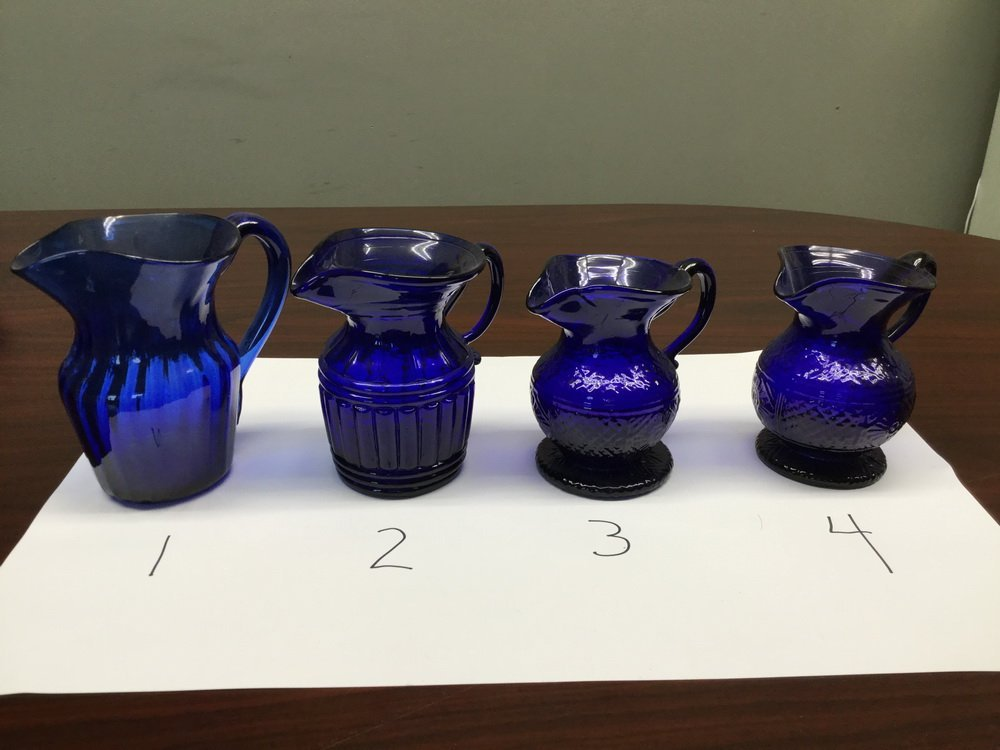 (23) BLOWN COBALT GLASS VESSELS - 10