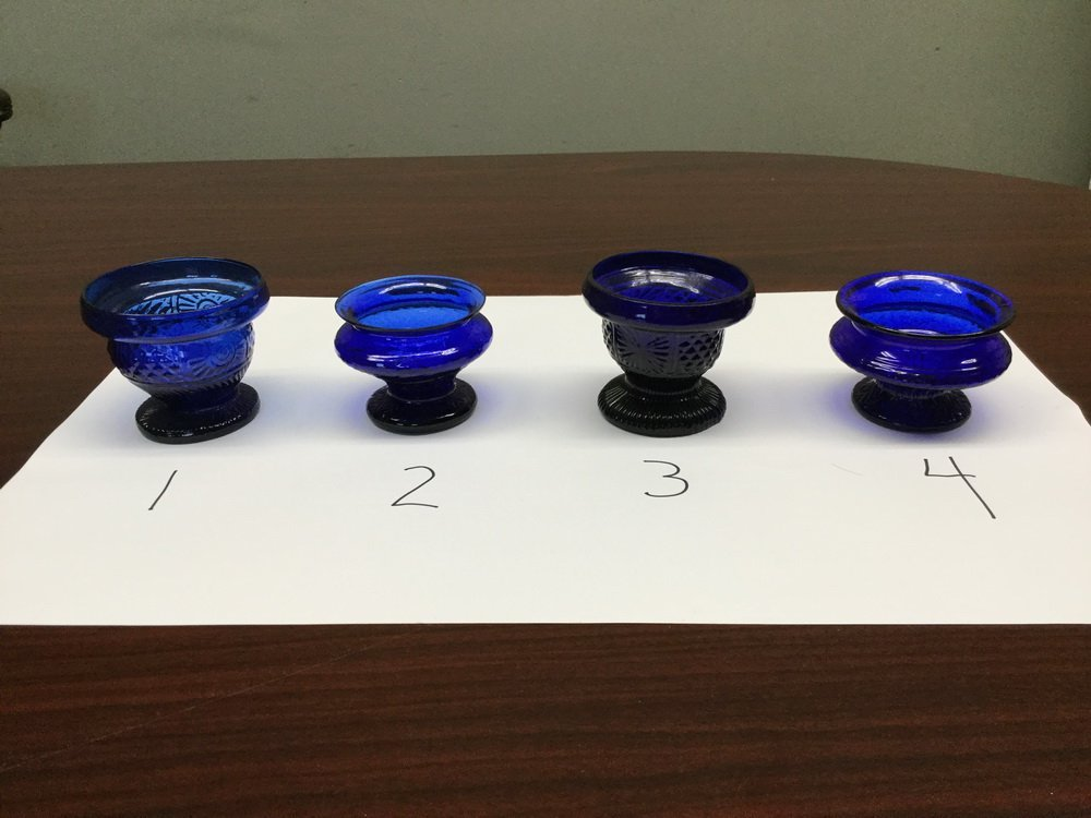 (23) BLOWN COBALT GLASS VESSELS - 2