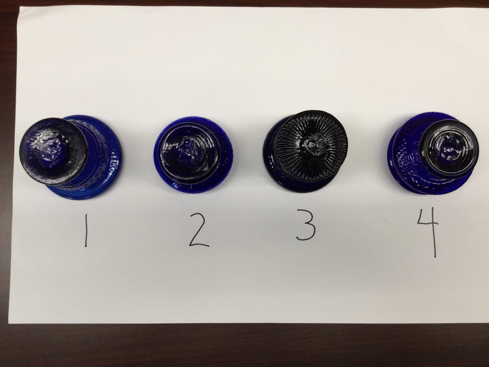 (23) BLOWN COBALT GLASS VESSELS - 3