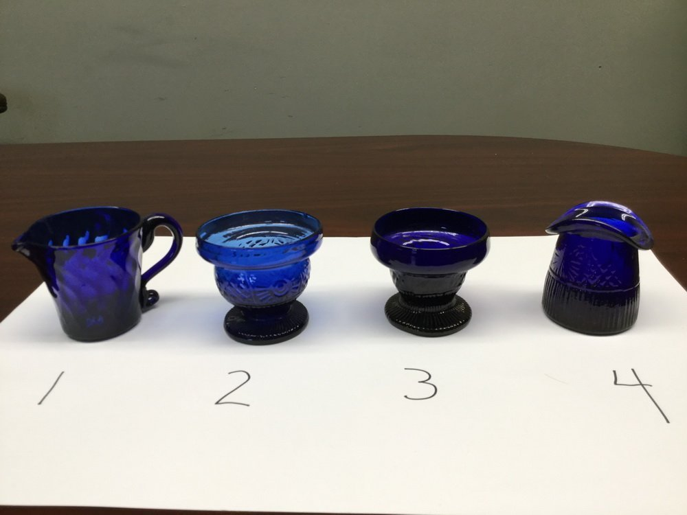 (23) BLOWN COBALT GLASS VESSELS - 4