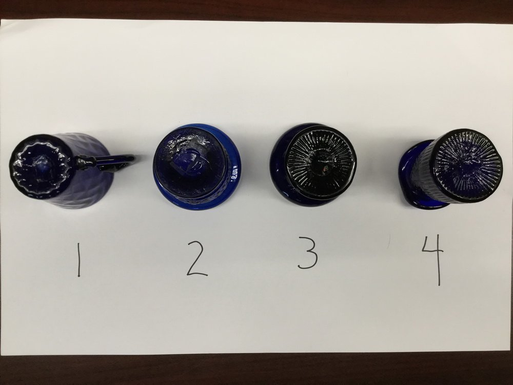 (23) BLOWN COBALT GLASS VESSELS - 5
