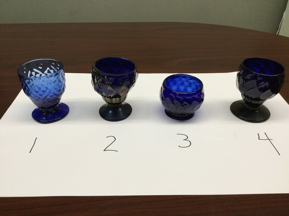 (23) BLOWN COBALT GLASS VESSELS - 6