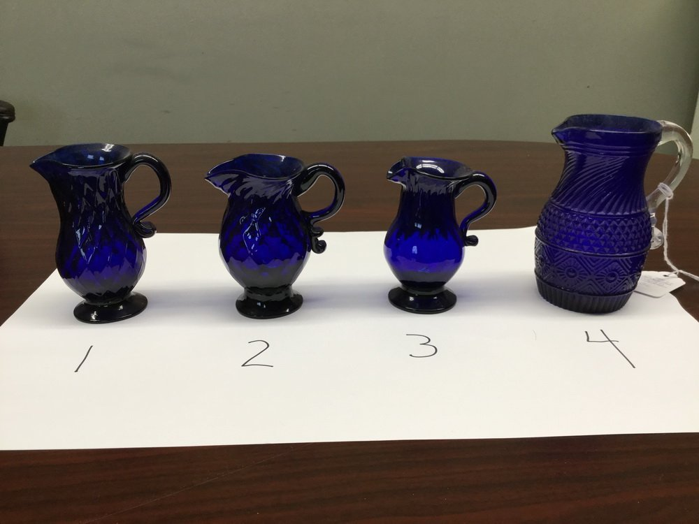 (23) BLOWN COBALT GLASS VESSELS - 8