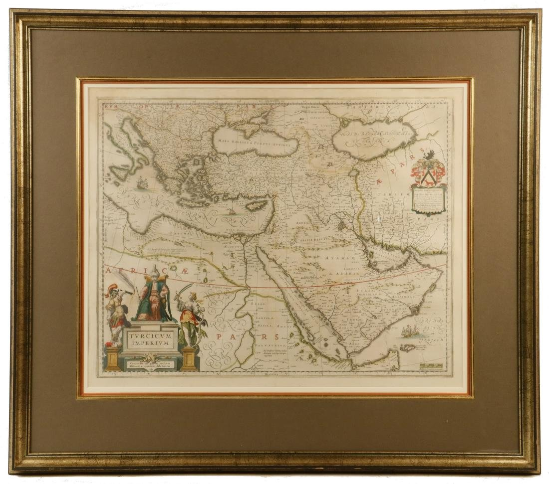 SCARCE DUTCH MAP OF THE OTTOMAN EMPIRE (MIDDLE EAST) BY