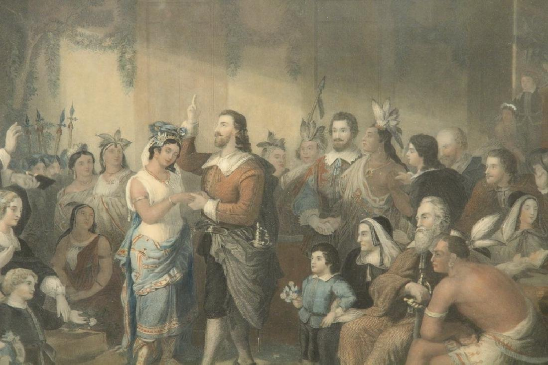 "RARE PROOF OF ENGRAVING ""THE MARRIAGE OF POCAHONTAS"" - 2"