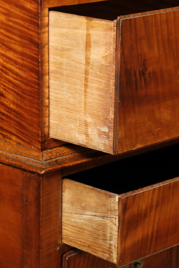 EARLY 18TH C. TIGER MAPLE HIGHBOY - 3