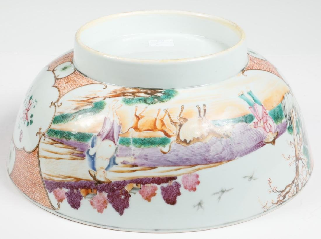 CHINESE EXPORT PORCELAIN PUNCH BOWL - 4