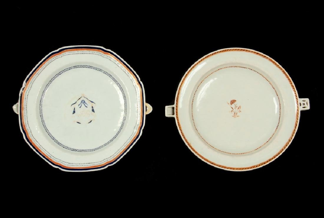 (2) CHINESE EXPORT WARMING DISHES