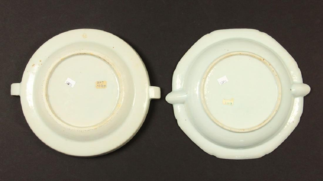 (2) CHINESE EXPORT WARMING DISHES - 4