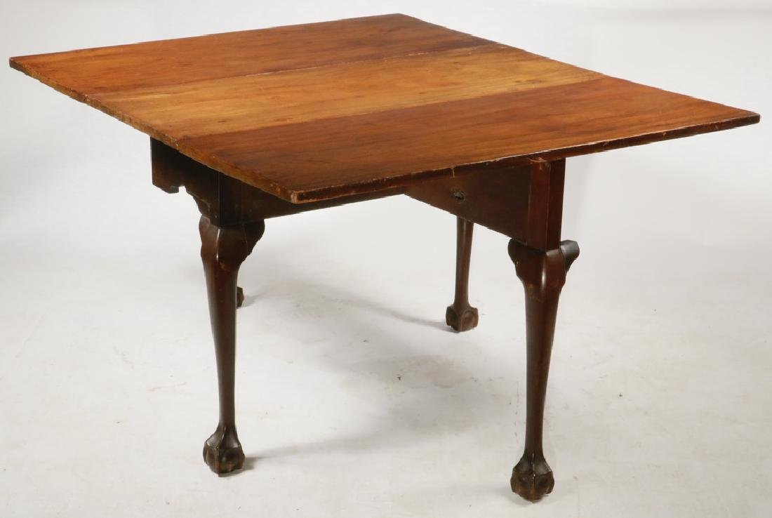 AMERICAN CHIPPENDALE DROP LEAF TABLE - 2