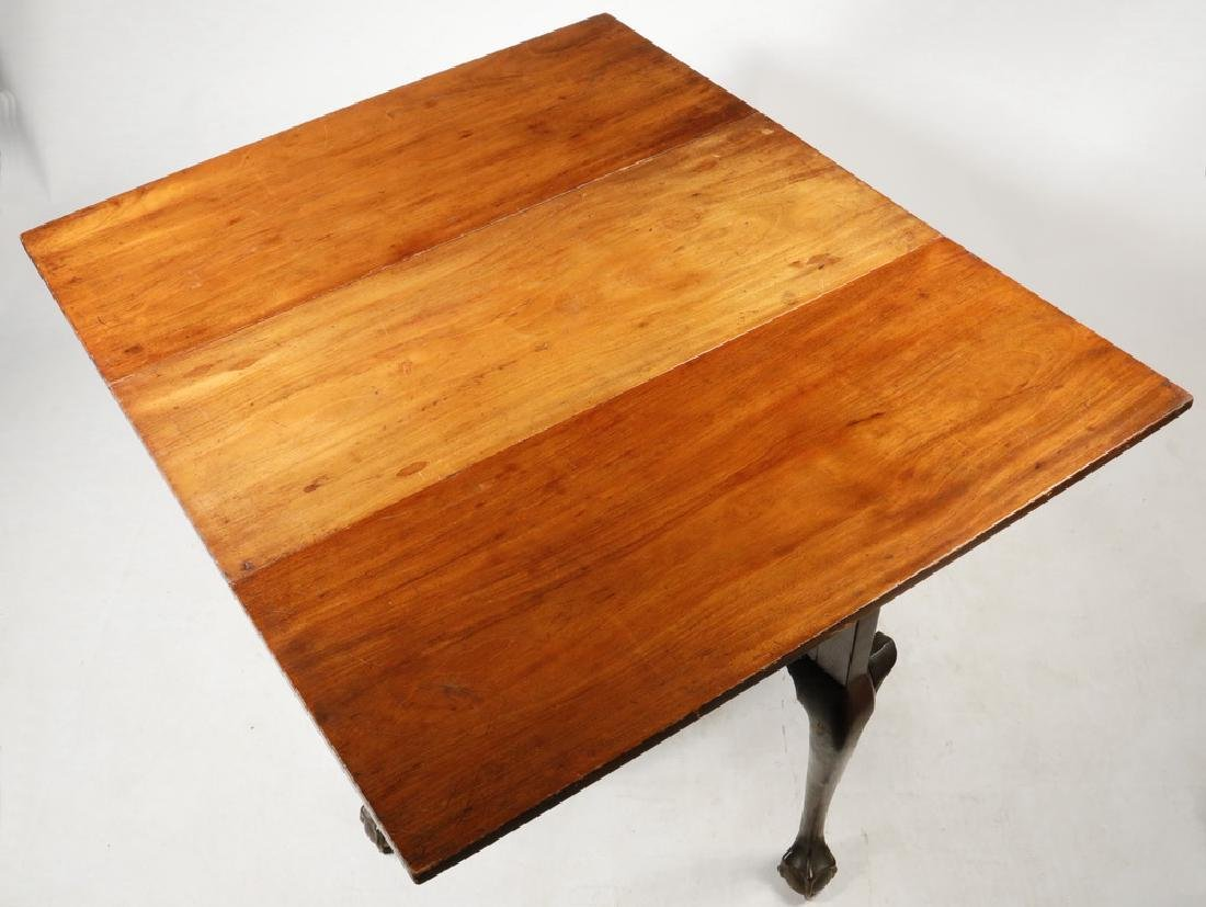 AMERICAN CHIPPENDALE DROP LEAF TABLE - 3