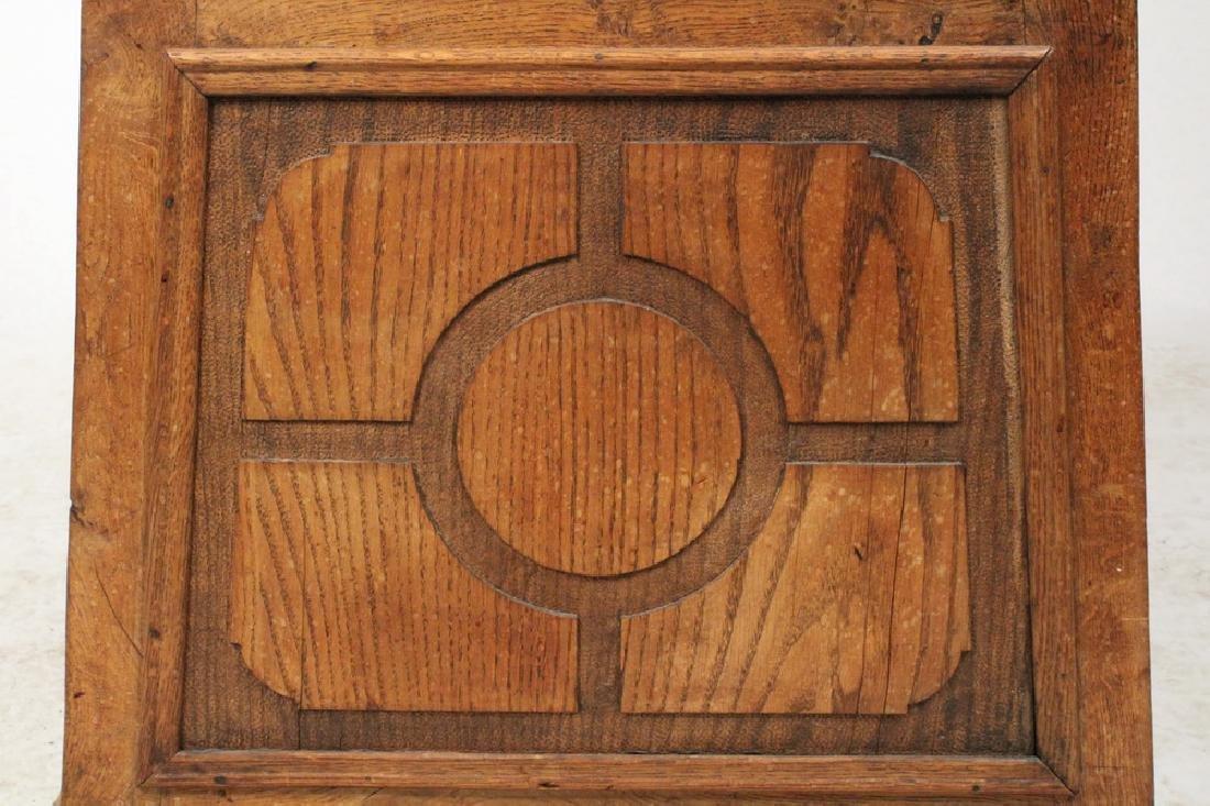 OAK CARVED TALL CLOCK - 6