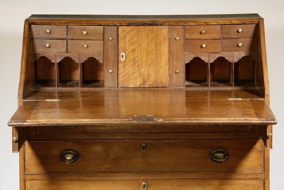 18TH C. MAHOGANY SLANT LID DESK - 2