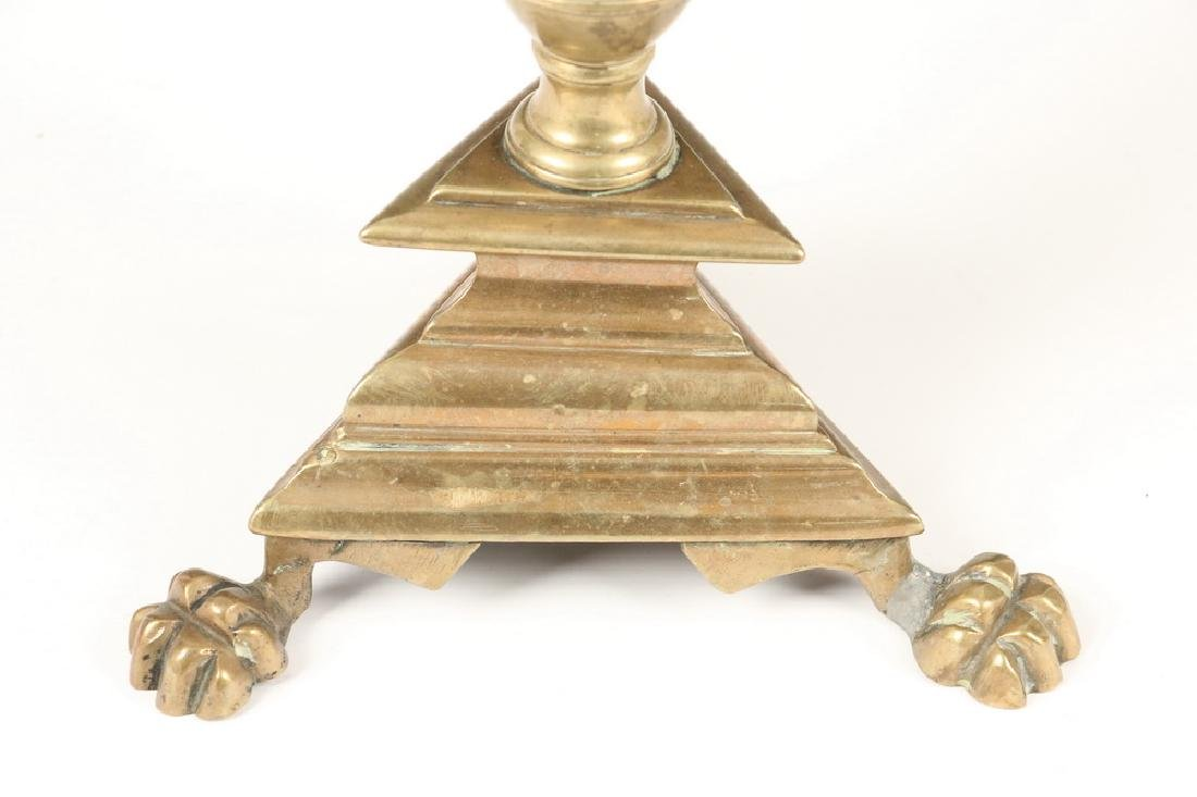 PAIR BRONZE PRICKET CANDLE HOLDERS - 2