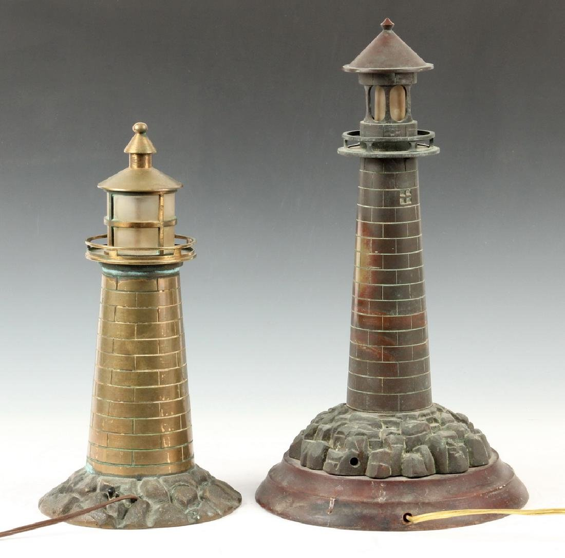 (2) LIGHTHOUSE FORM LAMPS - 2