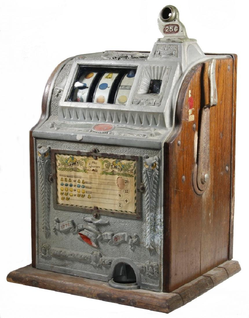 "1924 MILLS OPERATOR'S BELL ""OWL"" 25 CENT SLOT MACHINE"