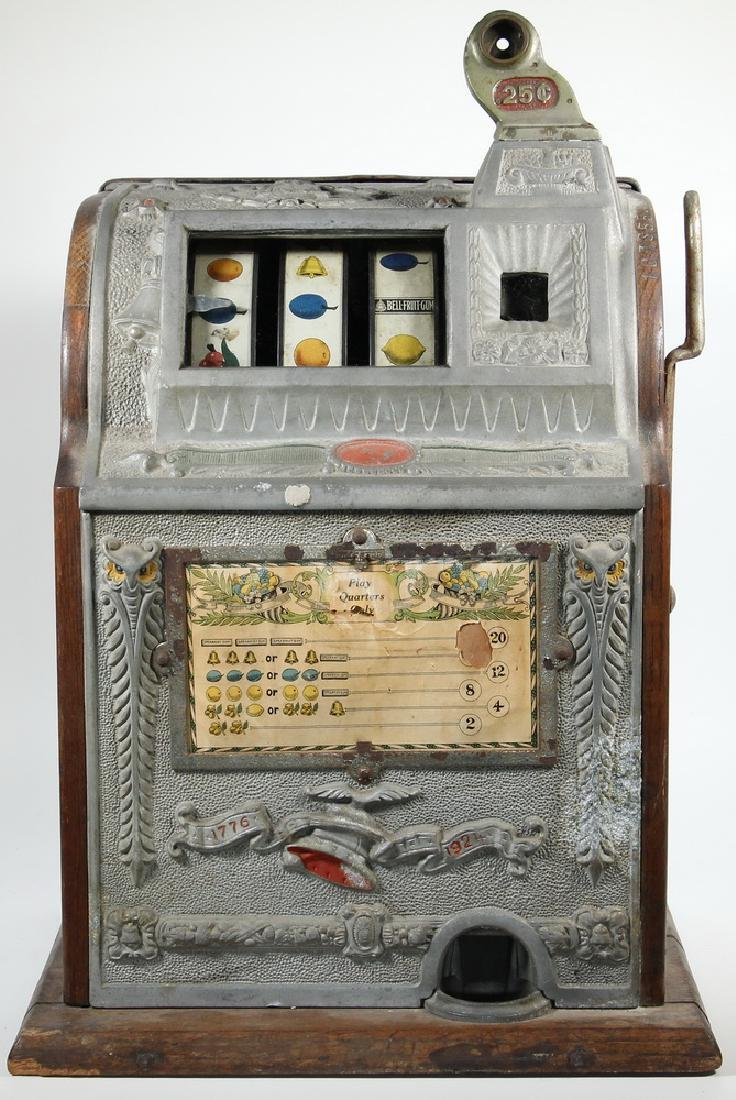 "1924 MILLS OPERATOR'S BELL ""OWL"" 25 CENT SLOT MACHINE - 2"