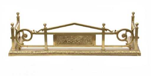 Brass Fireplace Fender