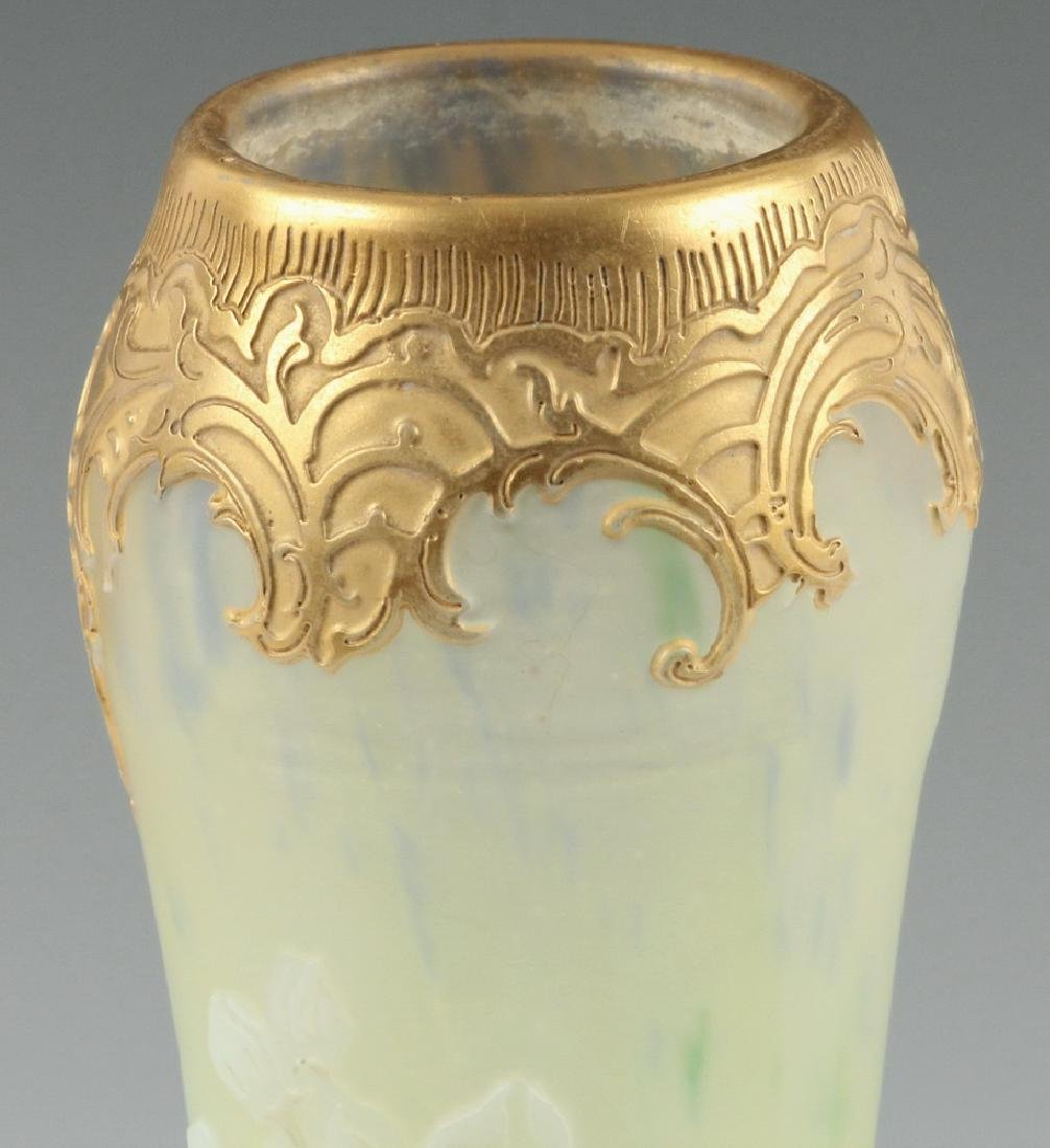 LEGRAS FRENCH ART GLASS VASE - 4