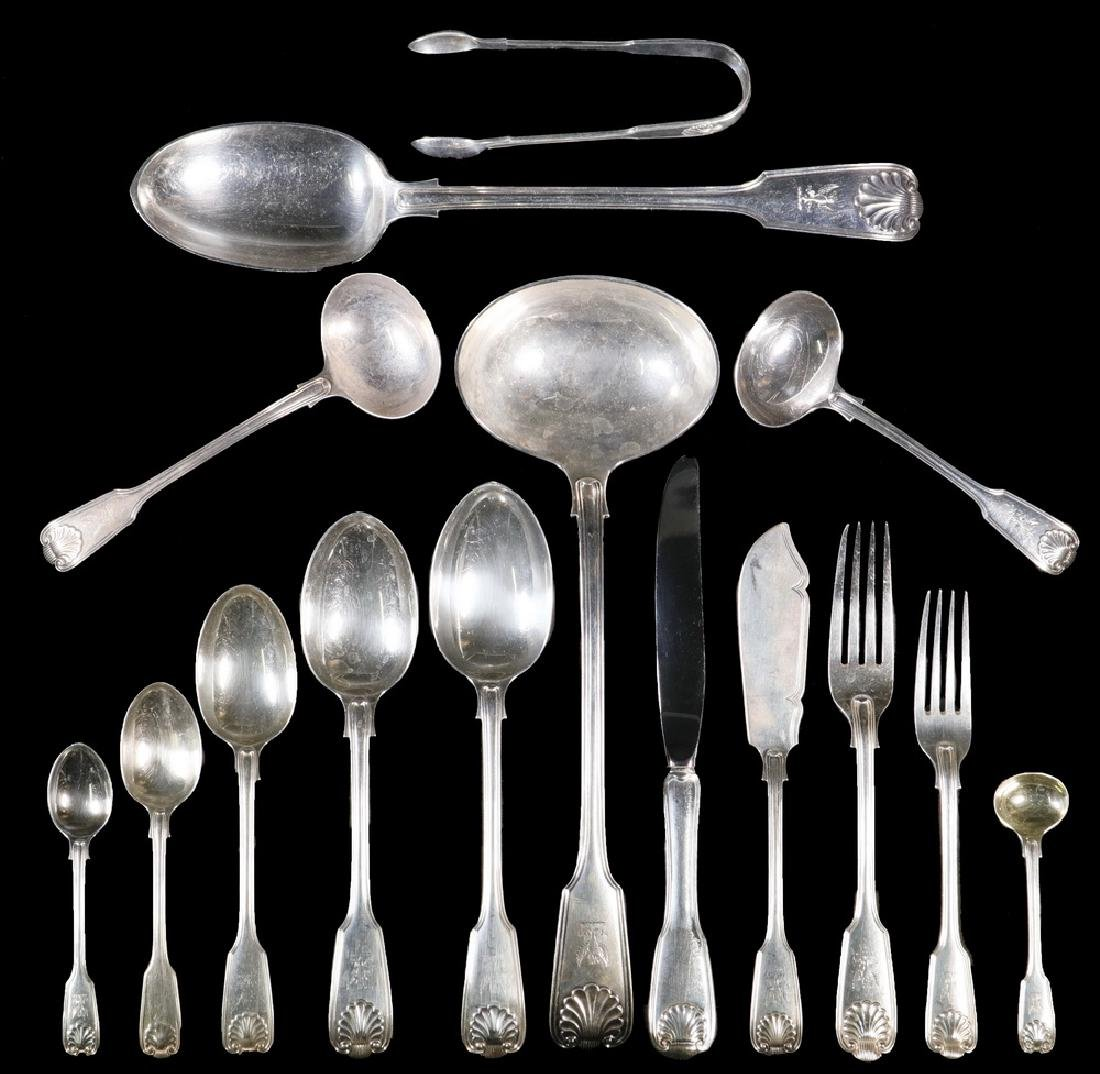 (157 PCS) ENGLISH STERLING FLATWARE & (24) SILVER