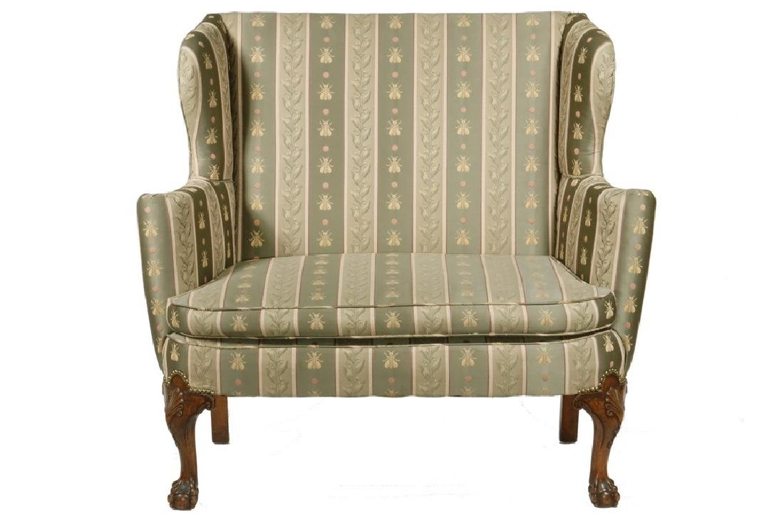 CHIPPENDALE STYLE TALL BACK SETTEE