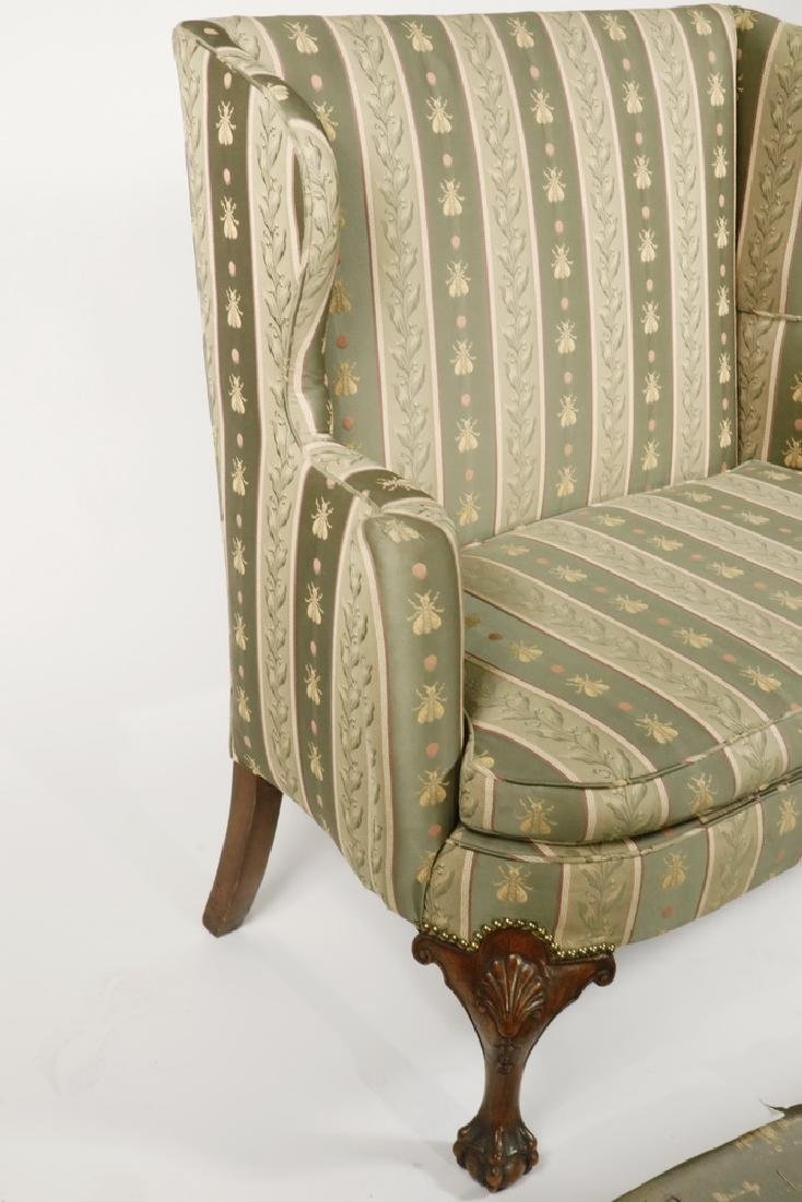 CHIPPENDALE STYLE TALL BACK SETTEE - 2