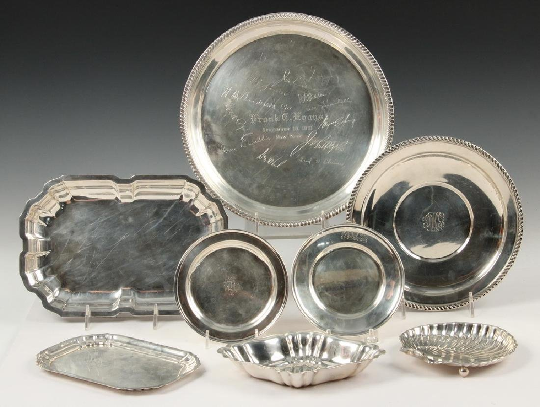 (8) STERLING SILVER TRAYS