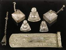 (7) CHINESE SILVER ORNAMENTS
