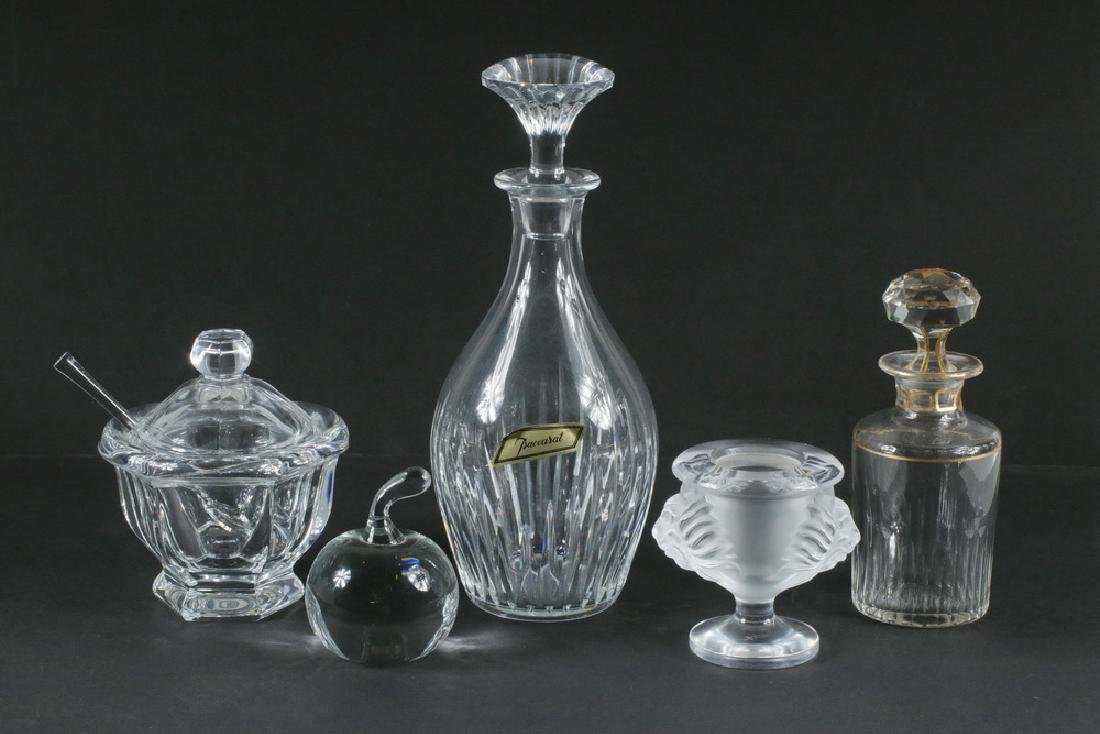(5 PCS) FINE CRYSTAL BY BACCARAT, LALIQUE, TIFFANY & CO