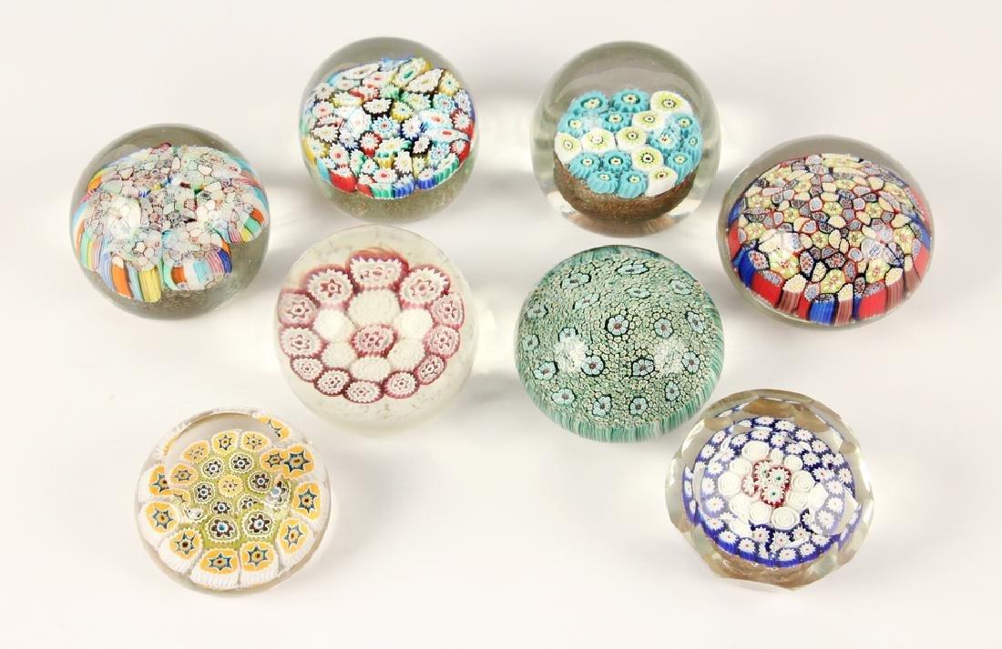 (8) MURANO ART GLASS PAPERWEIGHTS