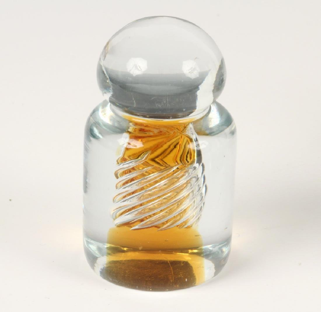 (4) ART GLASS PAPERWEIGHTS - 2