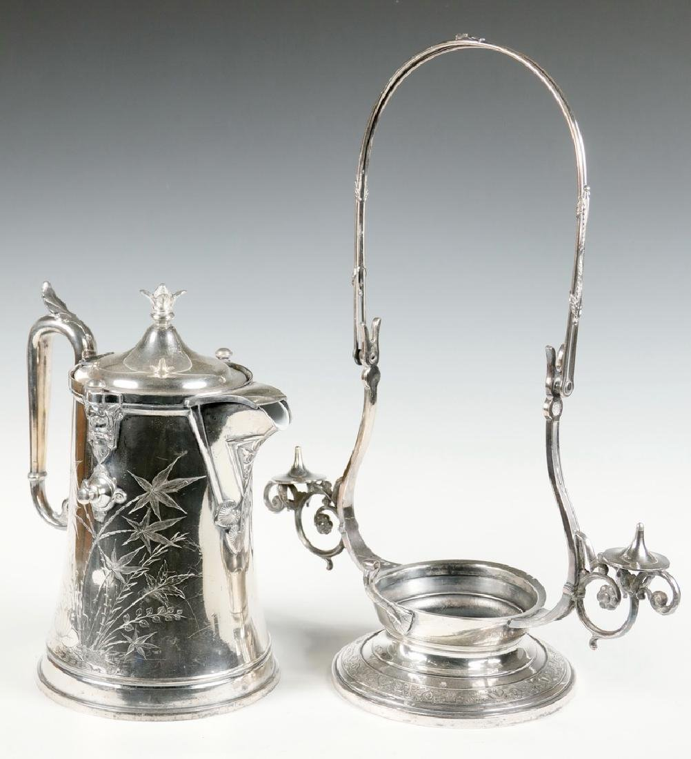 REED & BARTON WATER PITCHER ON STAND - 2