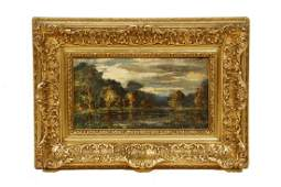 UNSIGNED 19TH C IMPRESSIONIST LANDSCAPE