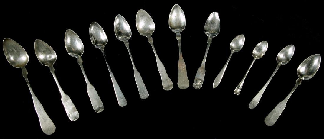 (12) ASSORTED SILVER SPOONS