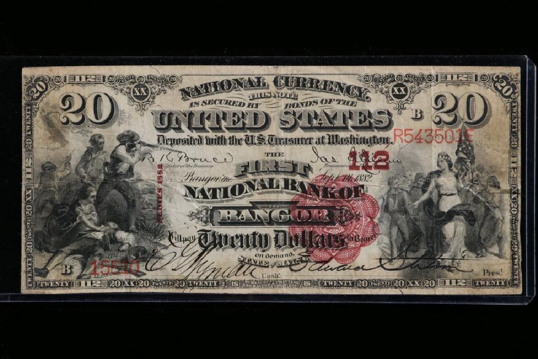 1882 Series $20 First National Bank of Bangor