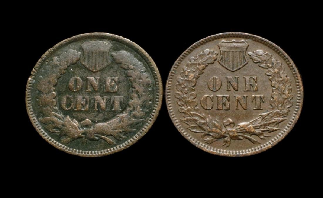 Two Semi-Key Indian Head Cents - 2