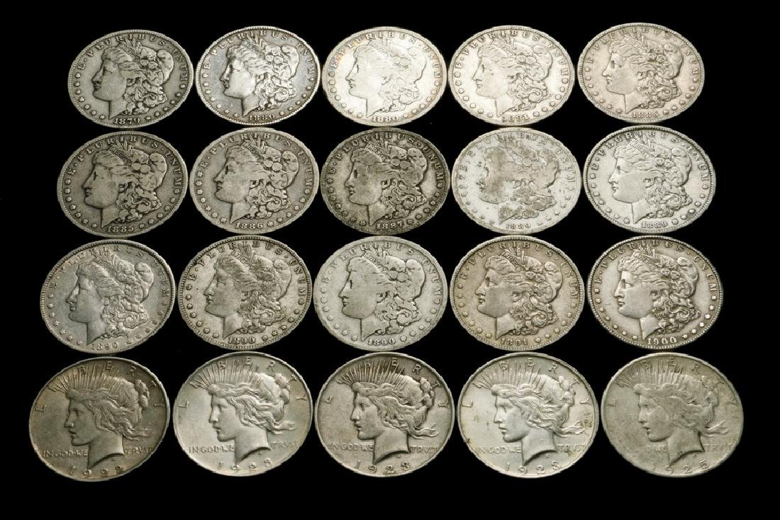 Roll of (20) Silver Dollars
