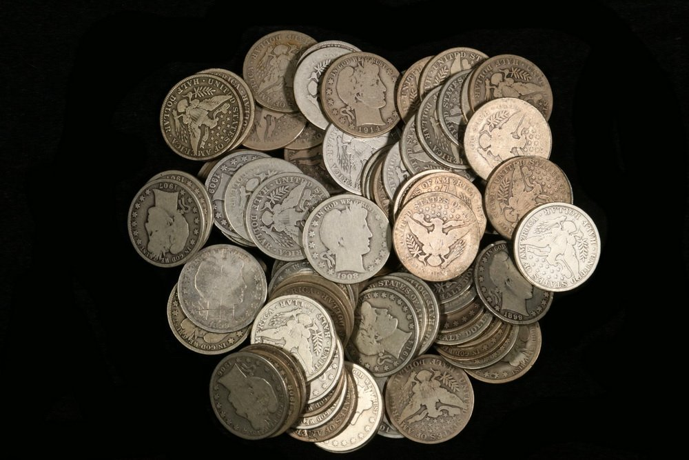 $42.00 Face Value Barber Halves