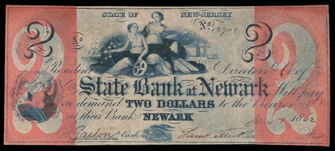 The State of New Jersey $2 Dollar Bank Note