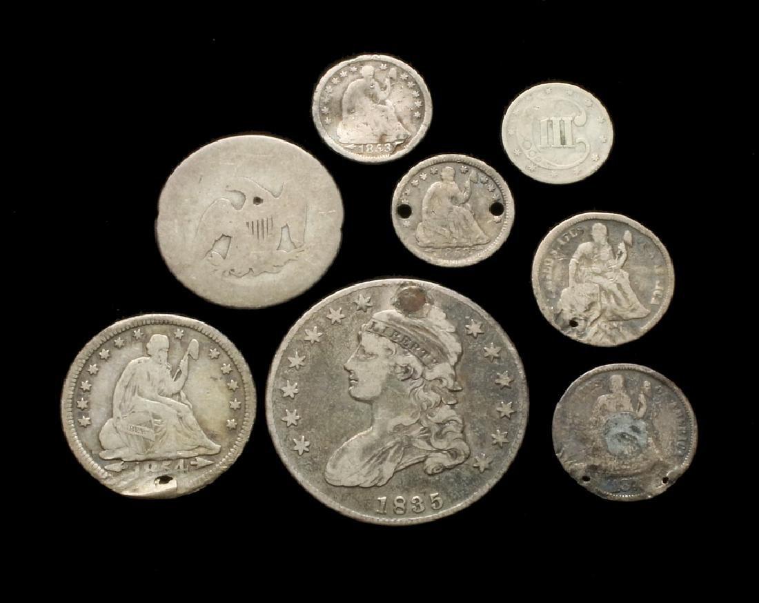 (8) Damaged or Worn Type Coins